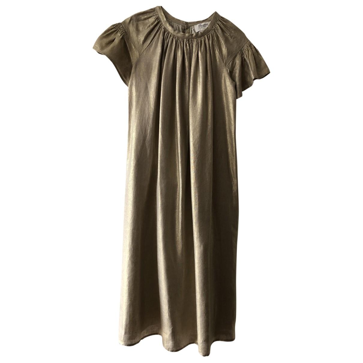 Bonpoint - Robe    pour enfant en lin - dore