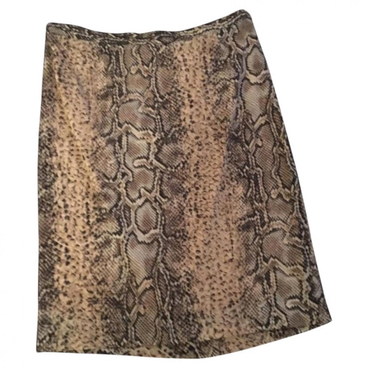 Dolce & Gabbana - Jupe   pour femme en soie - beige