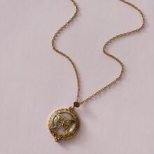 1pc Schmetterling & Lupe Charm Halskette