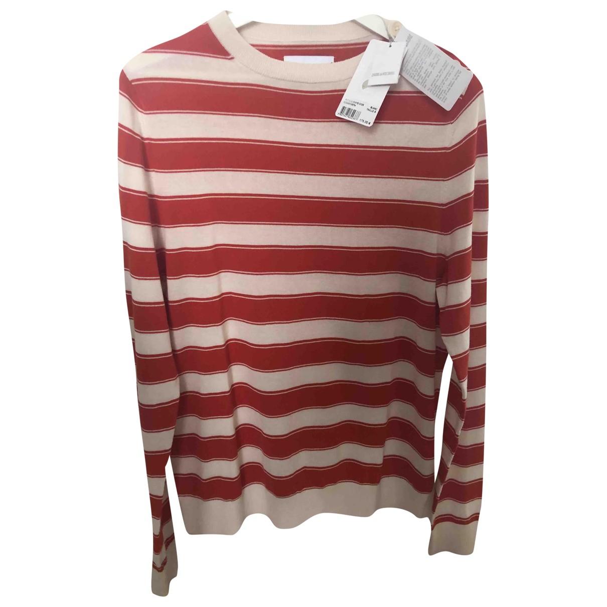 Zadig & Voltaire \N Pullover.Westen.Sweatshirts  in  Weiss Baumwolle