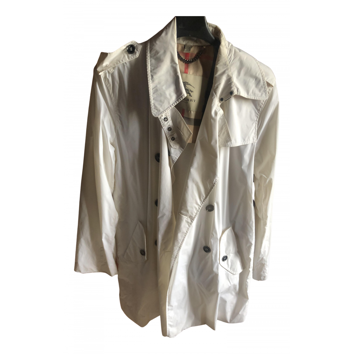 Burberry \N Trench in  Weiss Polyester