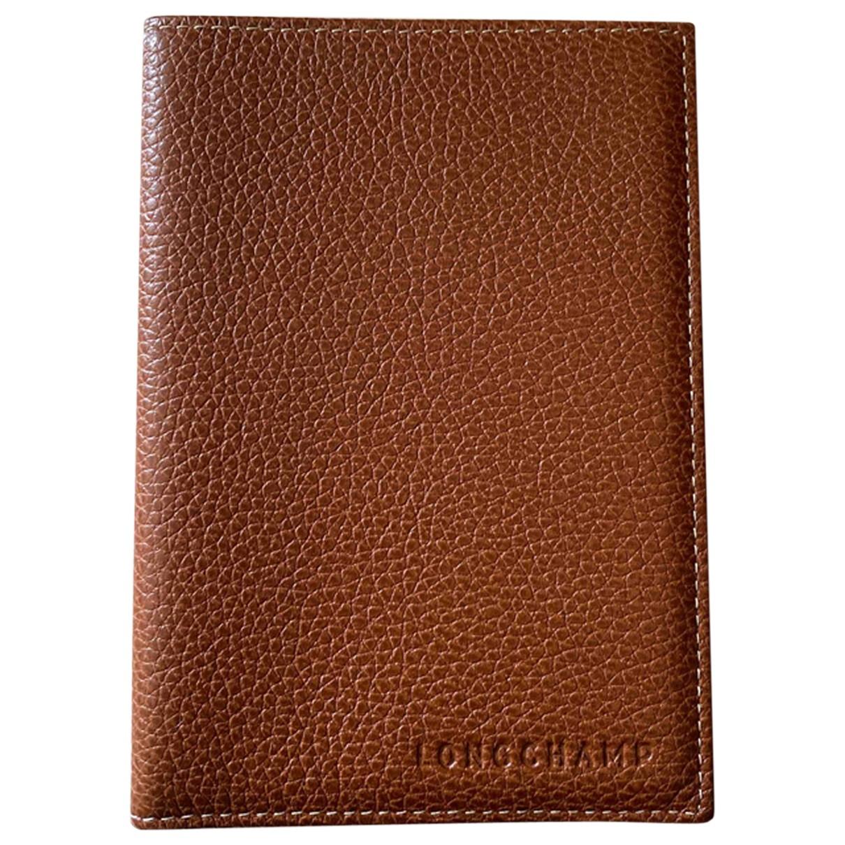 Longchamp \N Kleinlederwaren in  Kamel Leder
