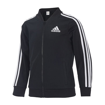 adidas Little Girls Lightweight Track Jacket, 4 , Black