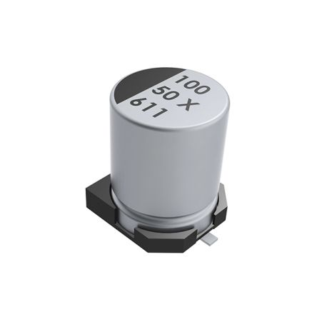 KEMET 100μF Electrolytic Capacitor 50V dc, Surface Mount - EXV107M050A9PAA (500)