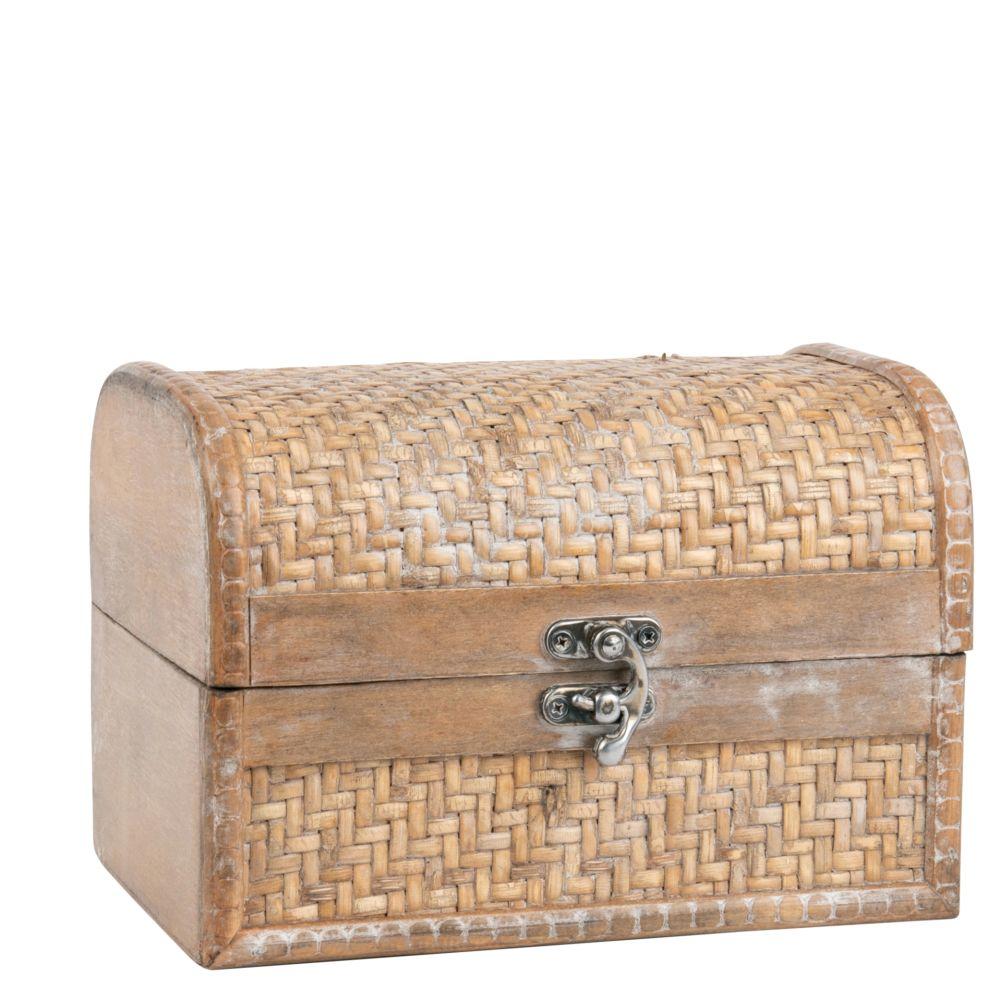 Kiste aus Ahorn und Rattan
