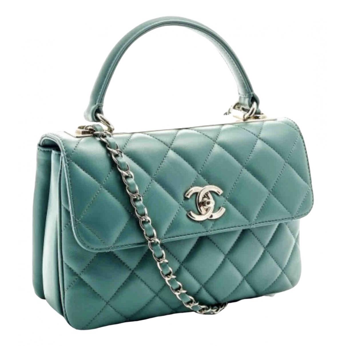 Chanel Trendy CC Handtasche in  Tuerkis Leder