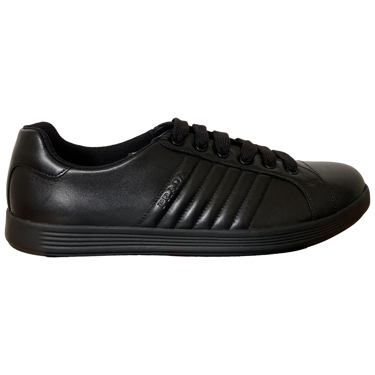 Prada - Baskets   pour homme en cuir - noir