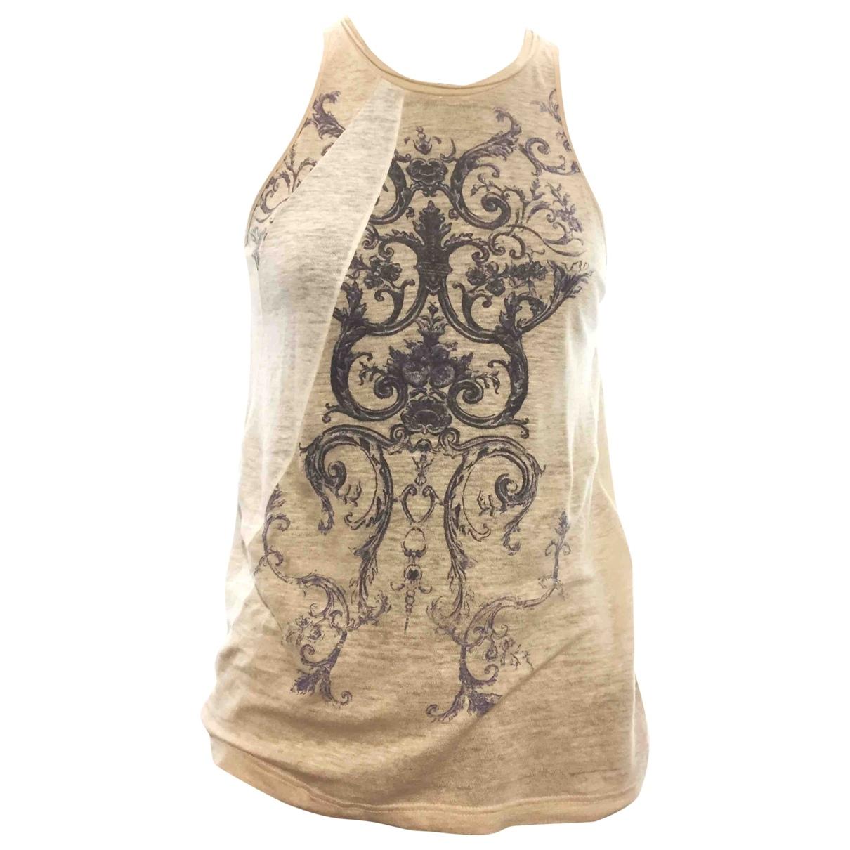 Balenciaga - Top   pour femme en lin - beige