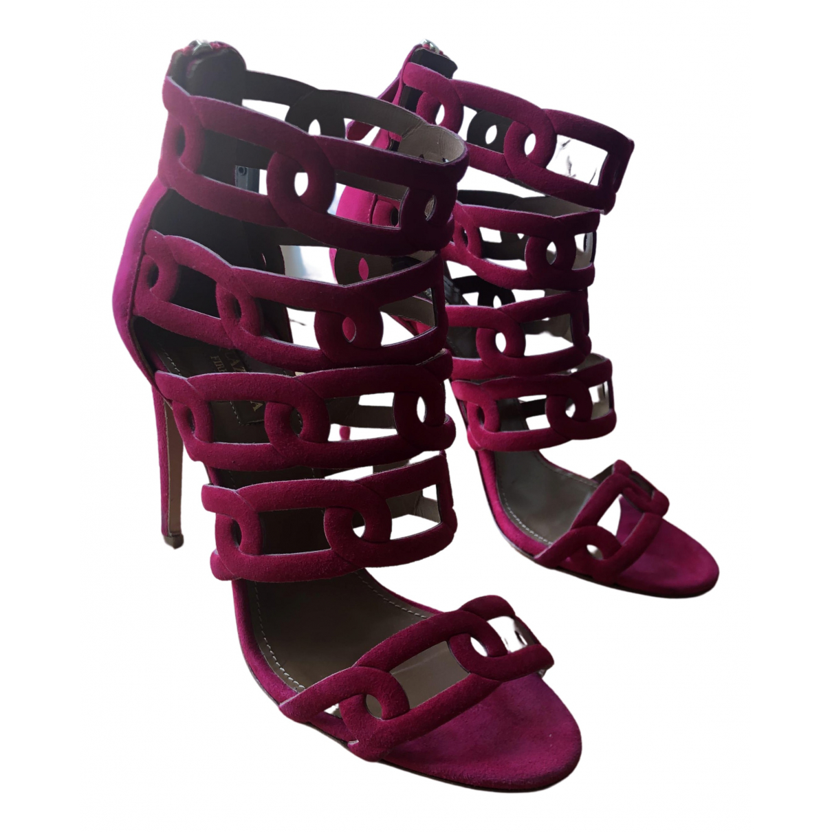 Aquazzura \N Pink Suede Heels for Women 38 EU