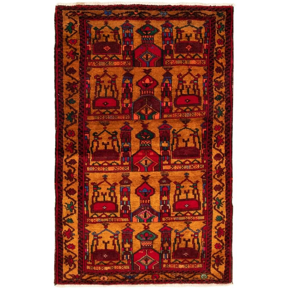 ECARPETGALLERY Hand-knotted Teimani Light Brown Wool Rug - 3'1 x 4'11 (Light Brown - 3'1 x 4'11)