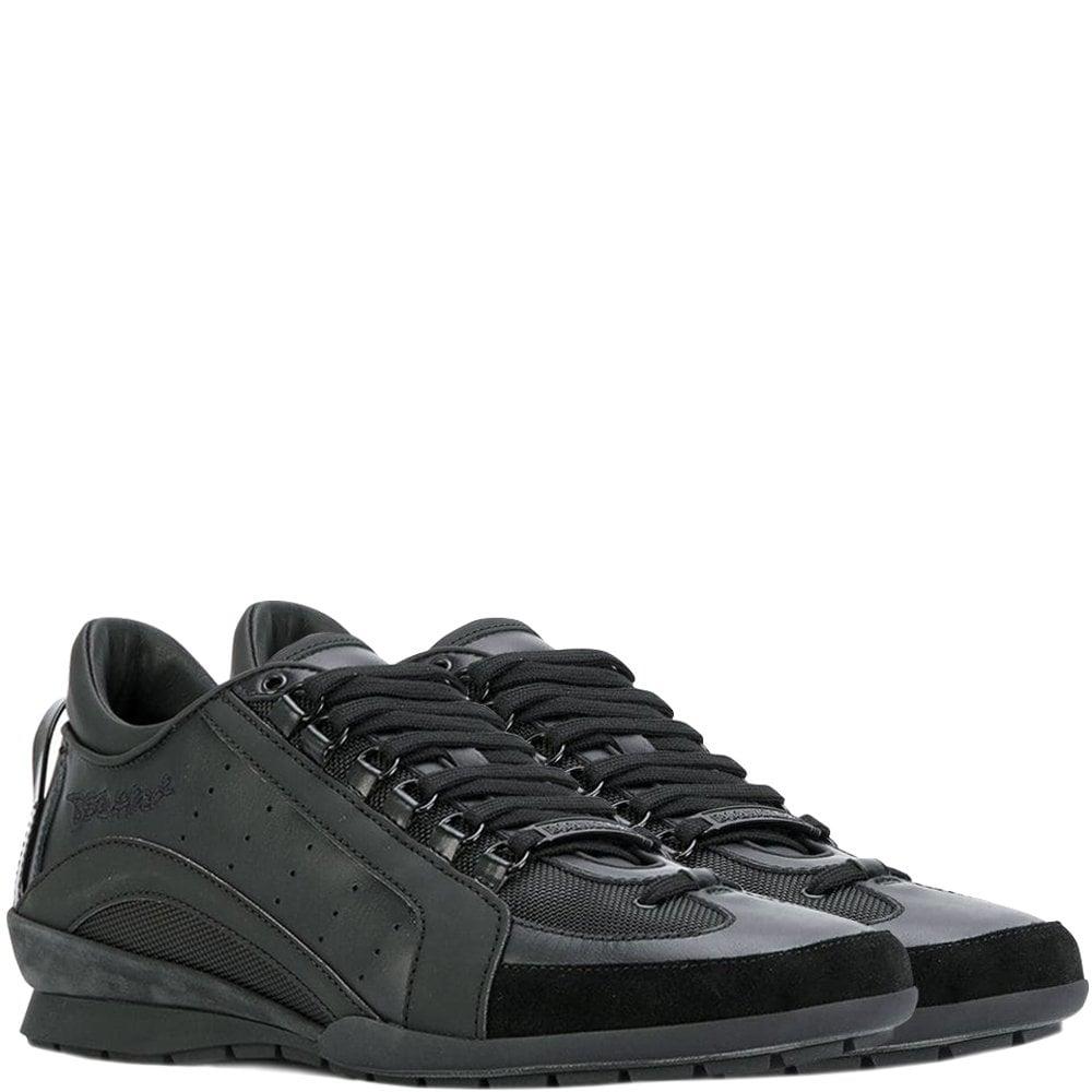 Dsquared2 Lace-Up Low Top Sneakers Black Colour: BLACK, Size: 6.5