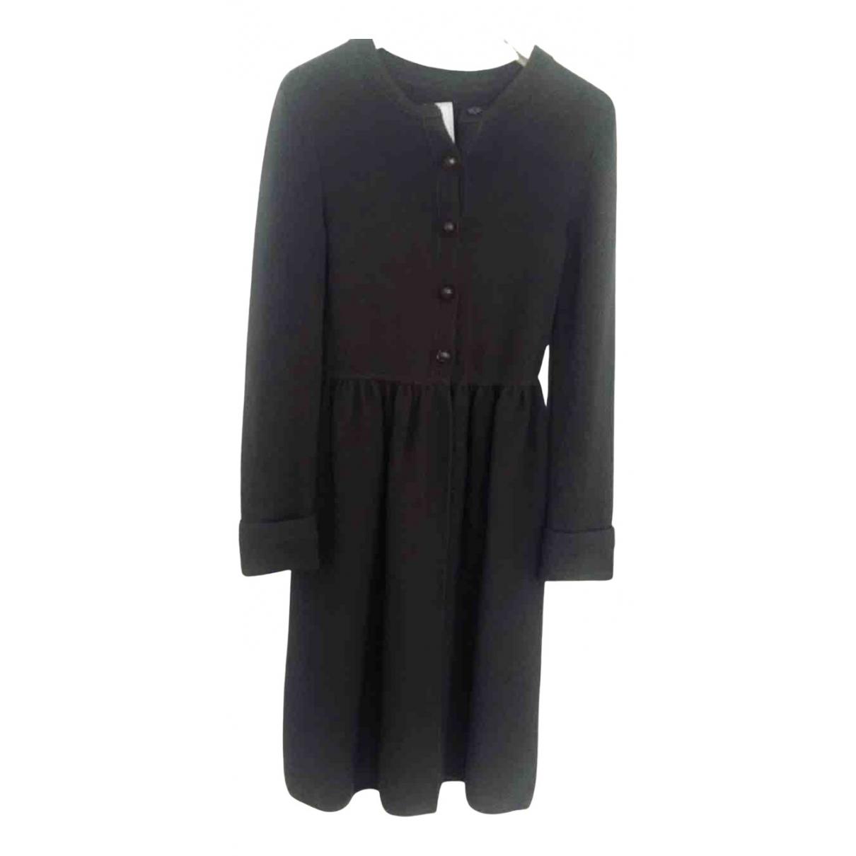Fendi \N Kleid in  Anthrazit Wolle