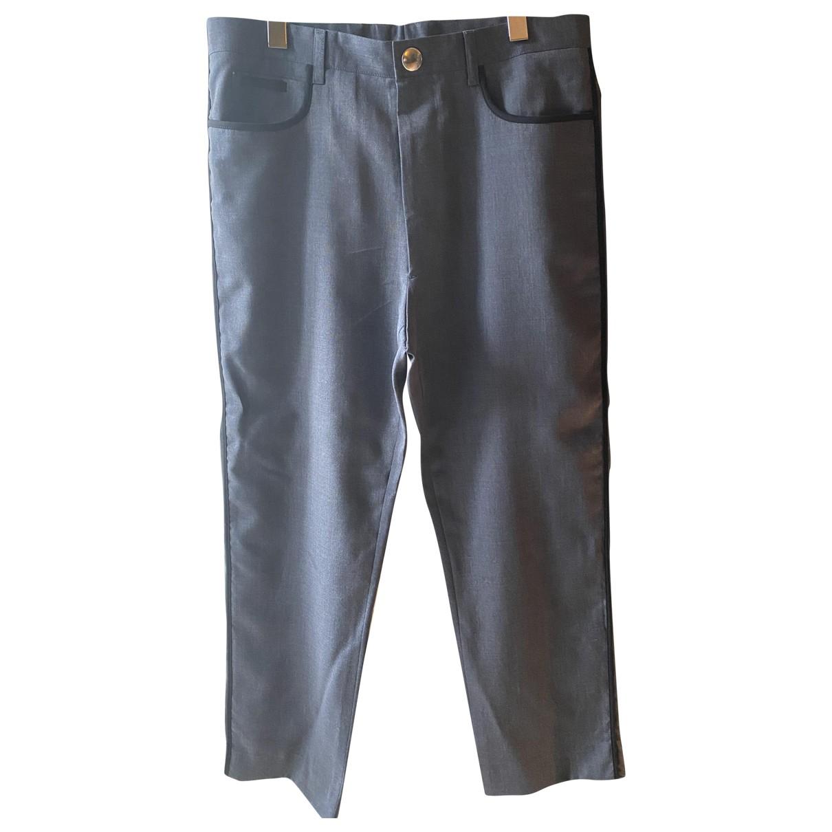 Prada N Blue Wool Trousers for Men 48 IT