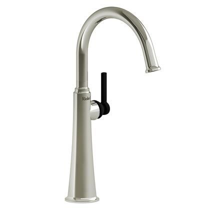 Momenti MMRDL01LPNBK-05 Single Hole Lavatory Faucet with L Lever Handle 0.5 GPM  in Polished