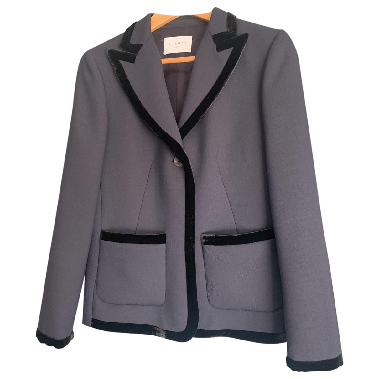 Sandro \N Navy jacket for Women 38 FR