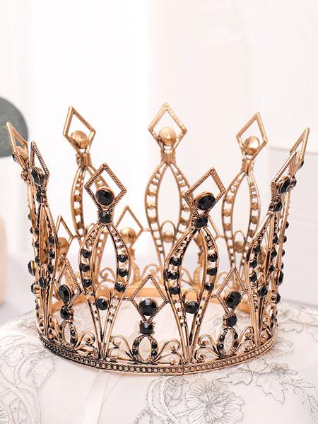 Milanoo Tocados de boda Tiara Metal Accesorios para el cabello nupcial