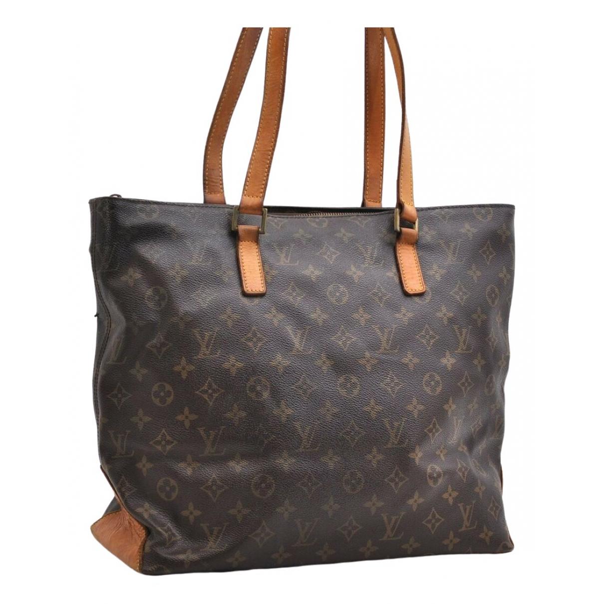 Louis Vuitton Mezzo  Handtasche in  Braun Leinen