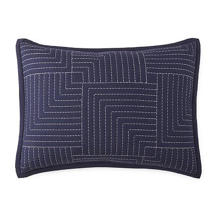 JCPenney Home Zen Garden Pillow Sham, One Size , Blue