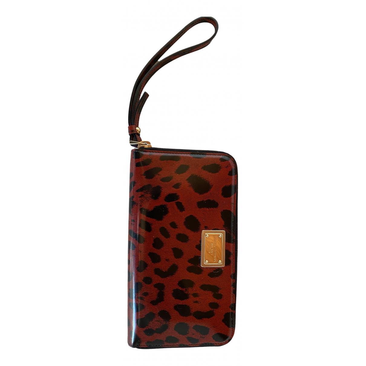 Dolce & Gabbana - Portefeuille   pour femme en cuir verni - rouge