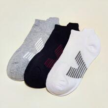 3 Paare Maenner Socken mit Streifen Muster