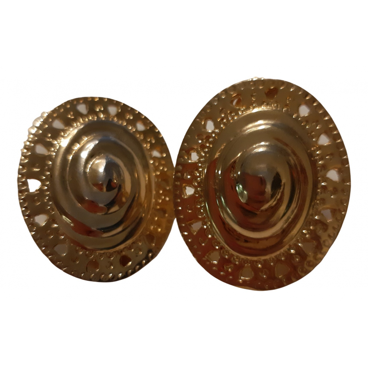 Non Signé / Unsigned  Maille Américaine Gold Metal Earrings for Women \N