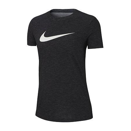 Nike Womens Crew Neck Short Sleeve Graphic T-Shirt, X-small , Gray