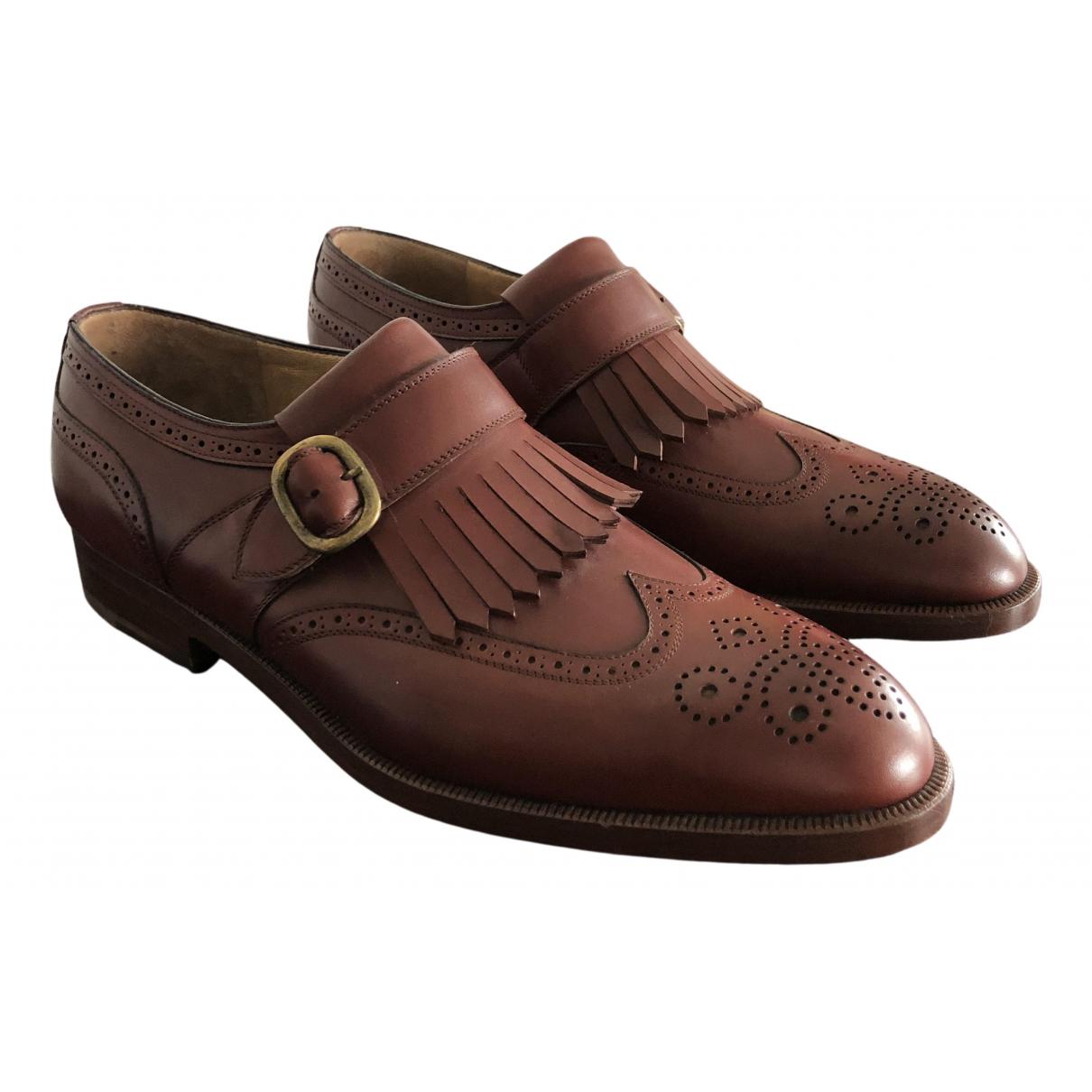 Fratelli Rossetti - Derbies   pour homme en cuir - marron