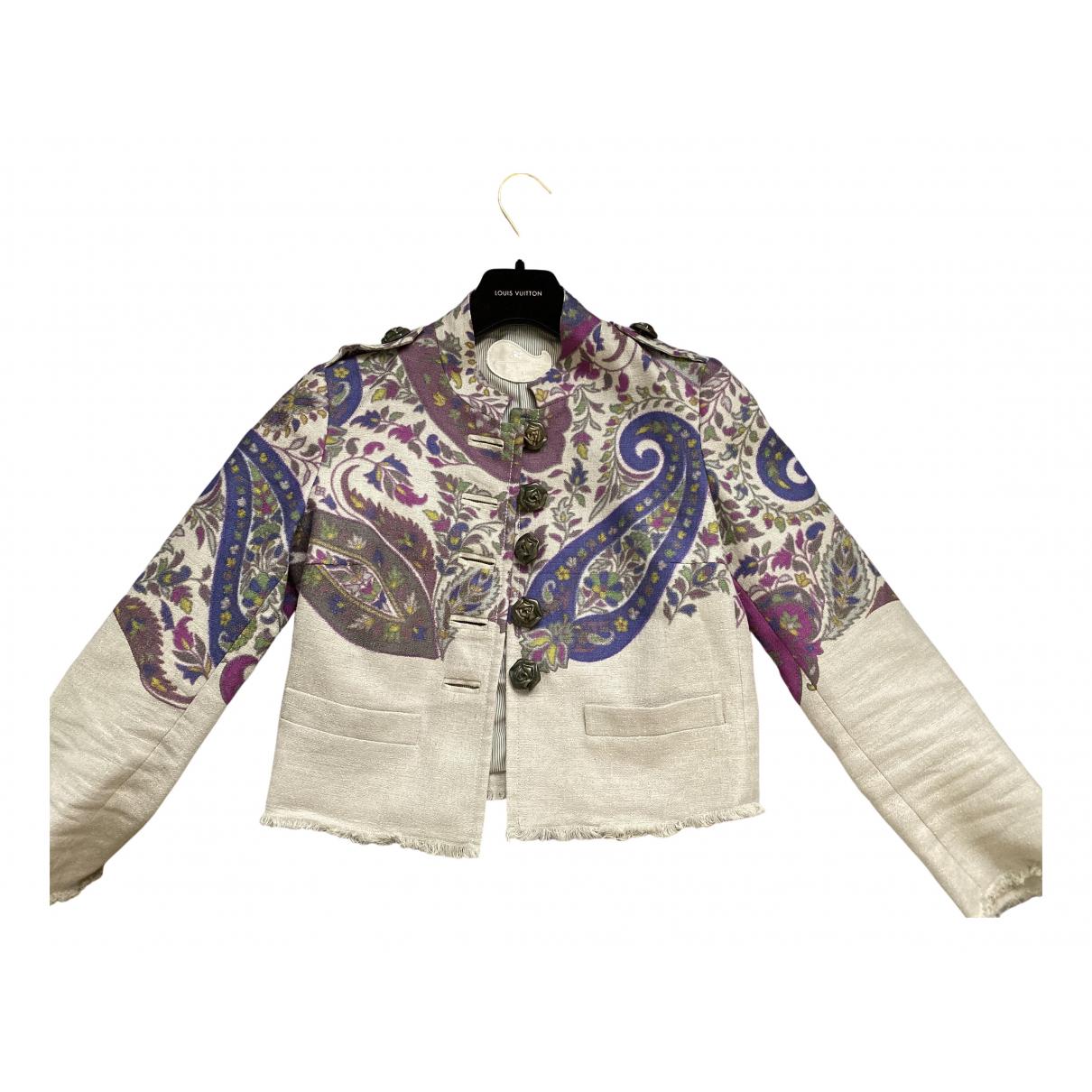 Etro N Beige Linen jacket for Women S International