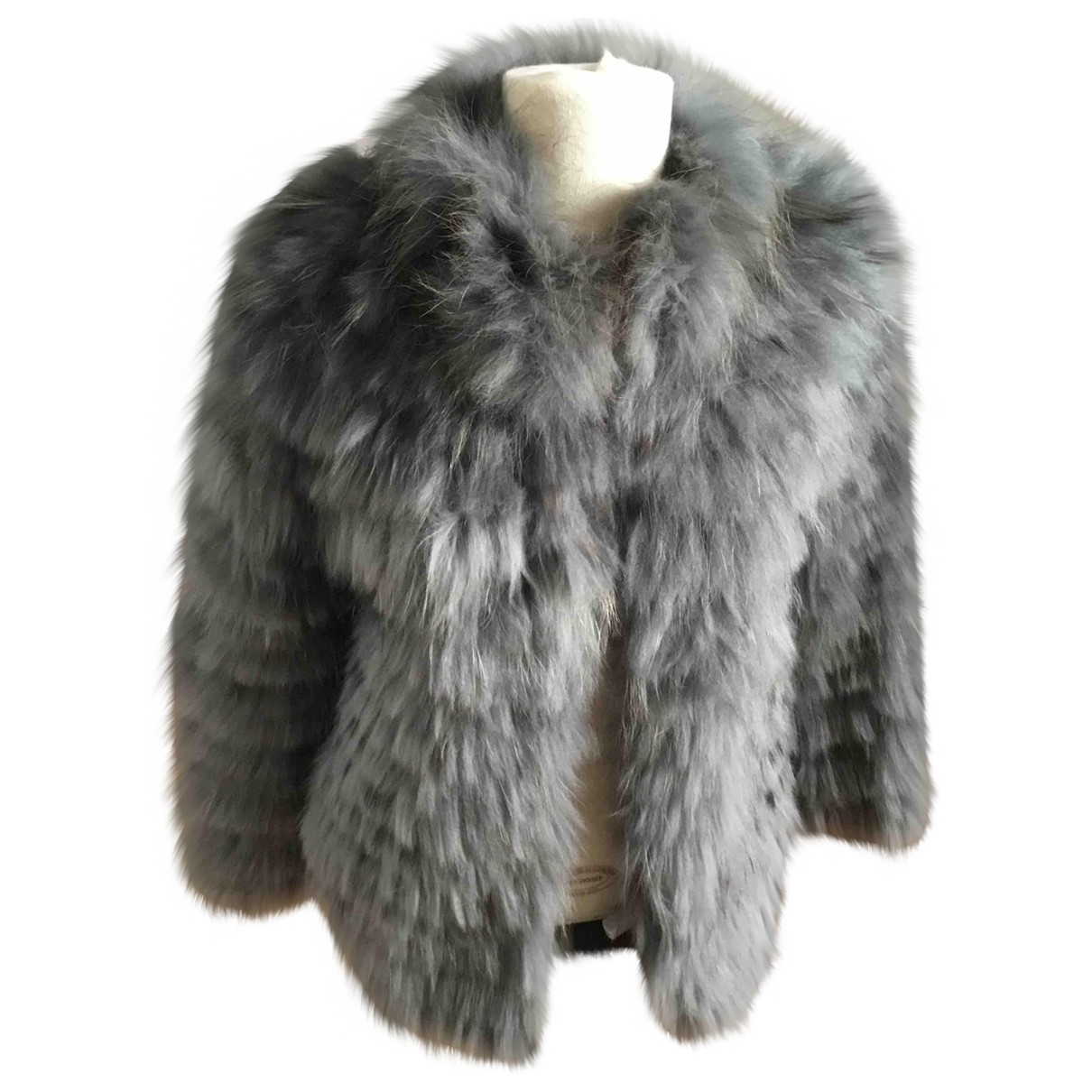 Twin Set \N Grey Raccoon jacket for Women 40 IT