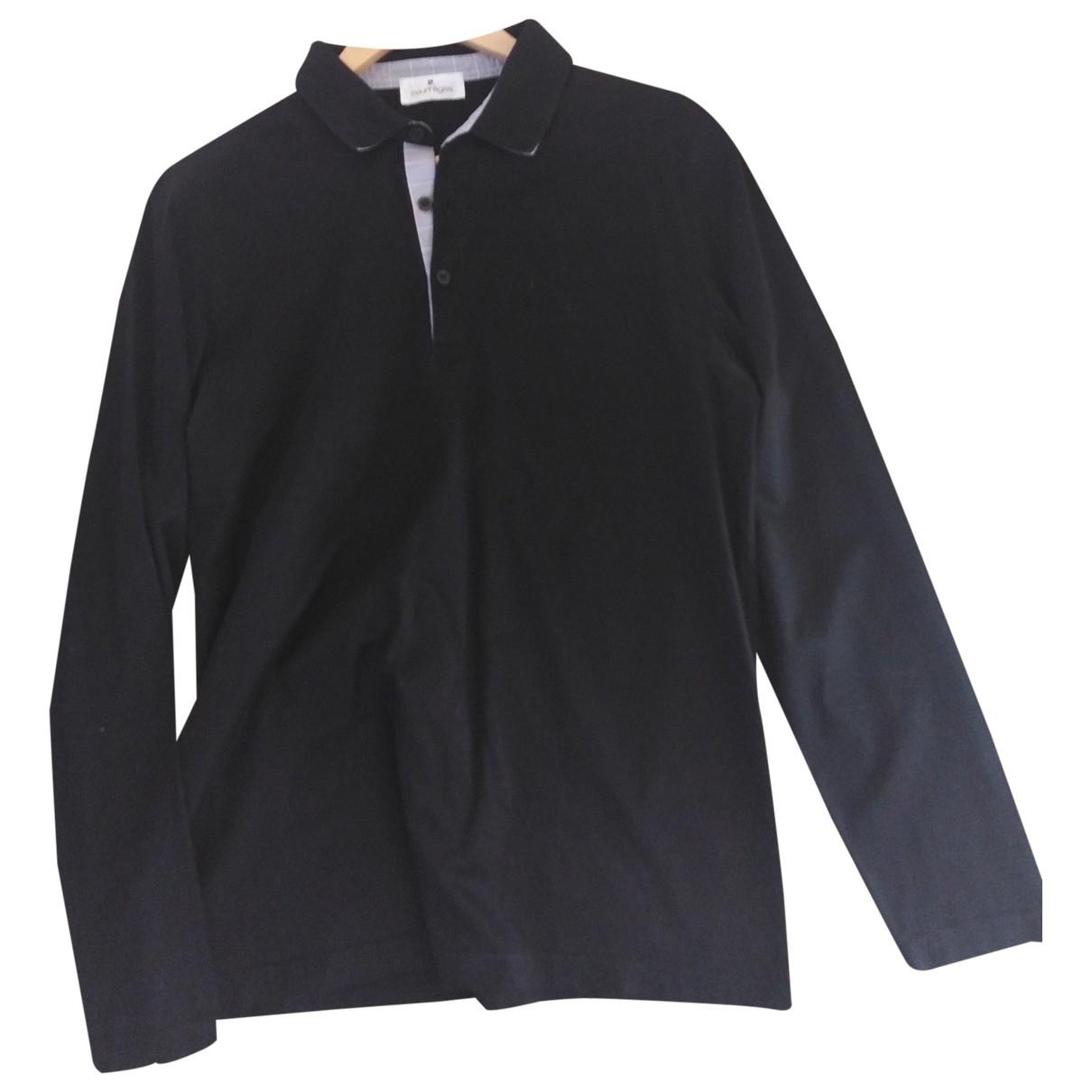 Courrèges \N Black Cotton Polo shirts for Men L International