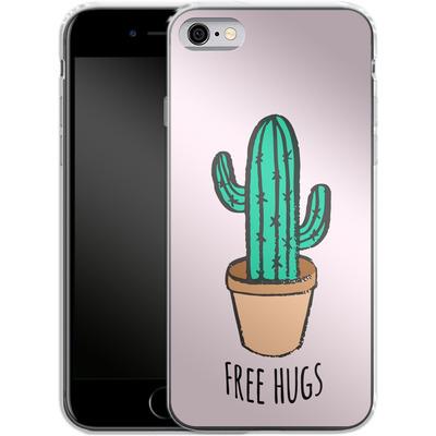 Apple iPhone 6s Silikon Handyhuelle - Cactus Free Hugs von caseable Designs
