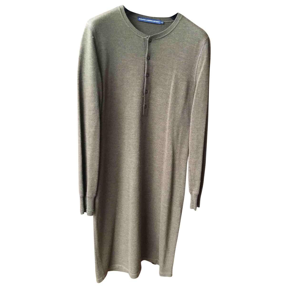 Ralph Lauren \N Khaki Wool dress for Women L International