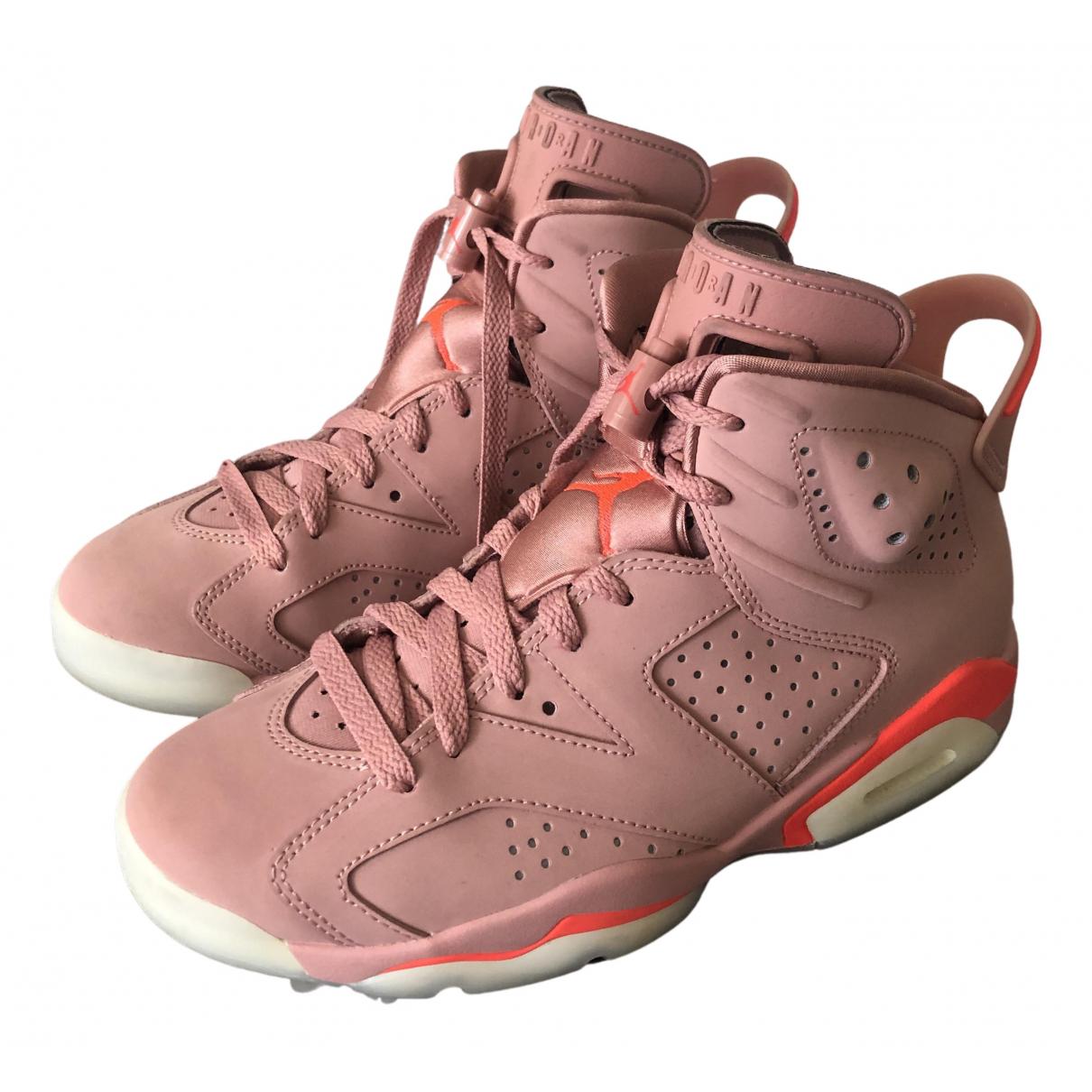 Jordan - Baskets Air Jordan 6  pour femme en suede - rose