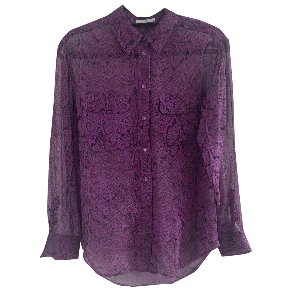 Equipment - Top   pour femme en soie - violet
