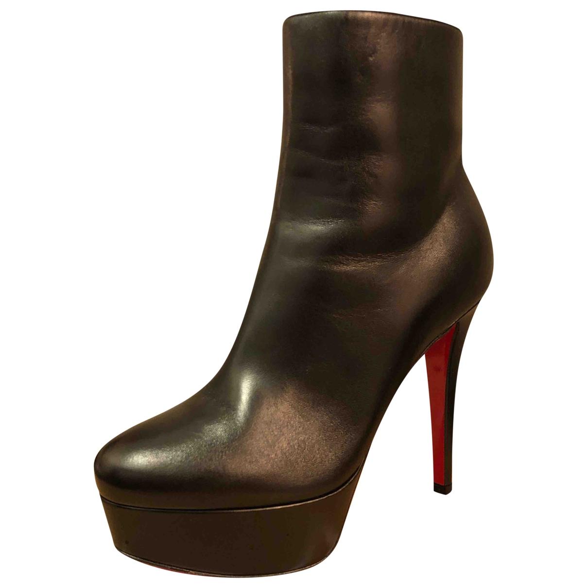 Christian Louboutin \N Black Leather Boots for Women 35.5 EU