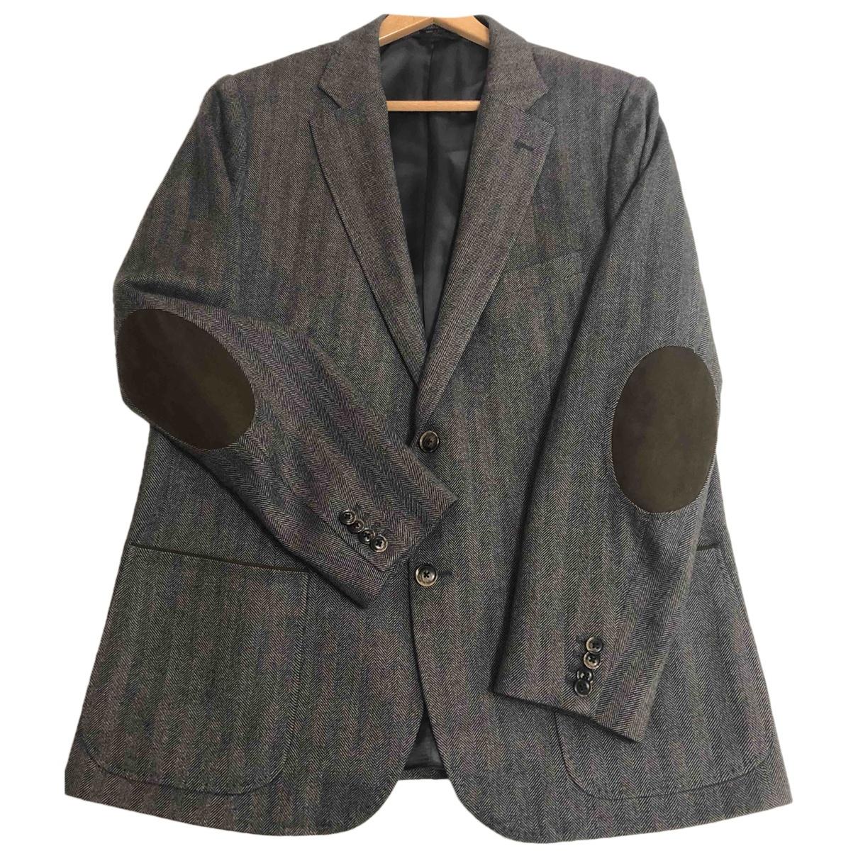 Massimo Dutti - Vestes.Blousons   pour homme en laine - gris