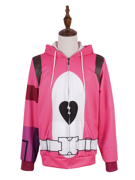 Milanoo Fortnite Battle Royale Cuddle Team Leader Halloween Cosplay disfraz sudadera con capucha