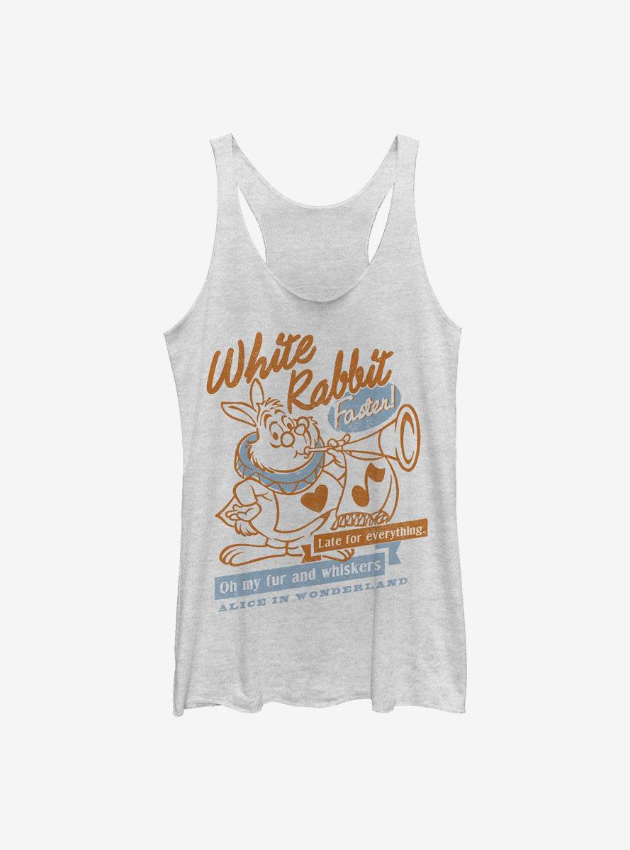 Disney Alice In Wonderland White Rabbit Womens Tank Top