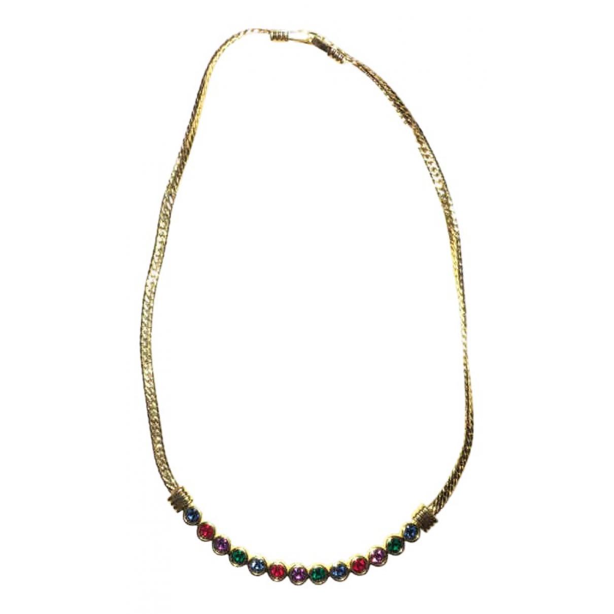 Swarovski - Collier   pour femme en plaque or - multicolore