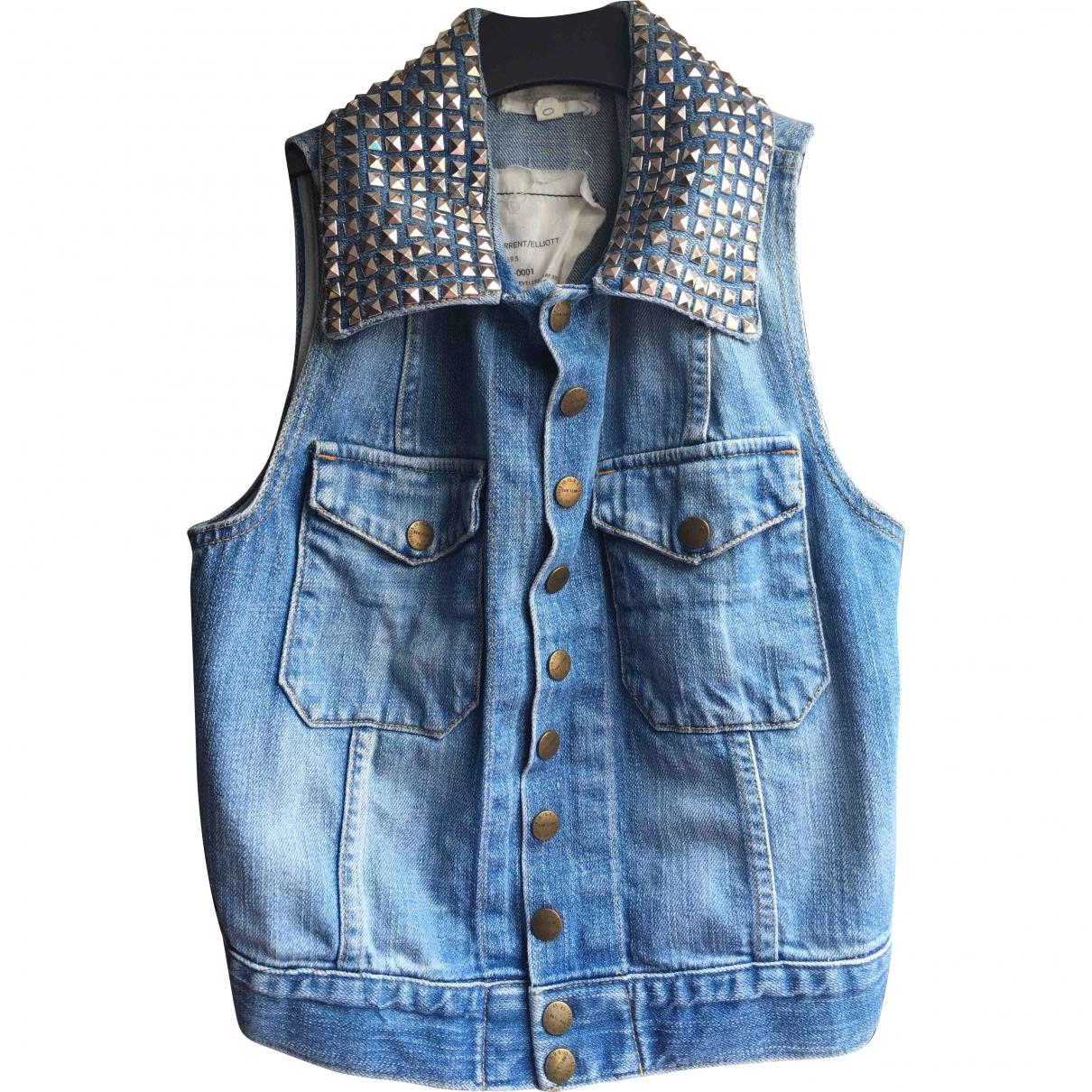 Current Elliott \N Jacke in  Blau Denim - Jeans