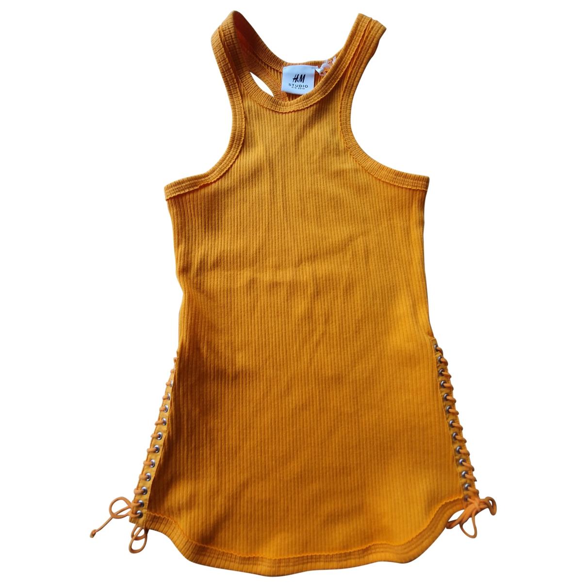 H&m Studio - Top   pour femme en coton - orange