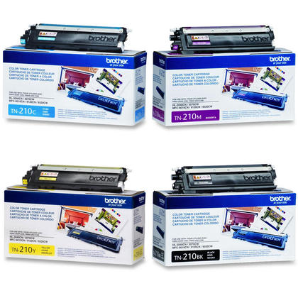 Brother TN210 Original Toner Cartridge Combo BK/C/M/Y