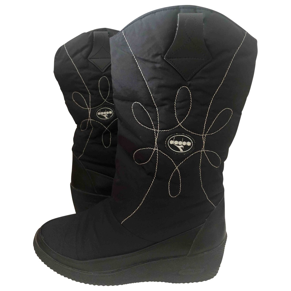 Diadora \N Black Cloth Boots for Women 40 EU