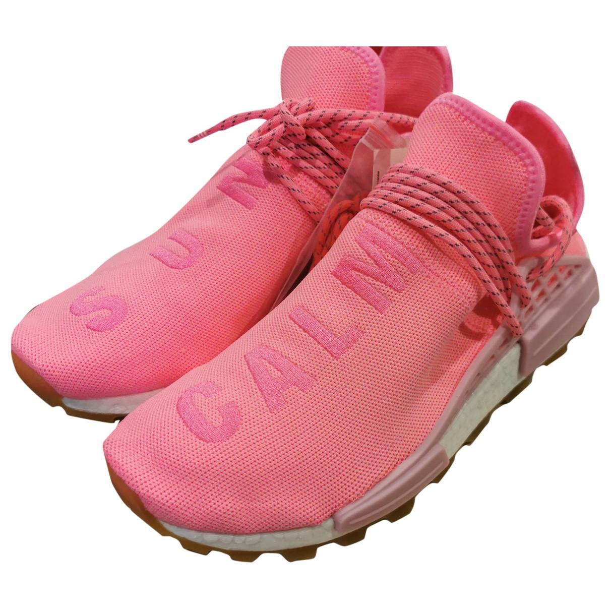 Adidas X Pharrell Williams NMD Hu Sneakers in  Rosa Leinen