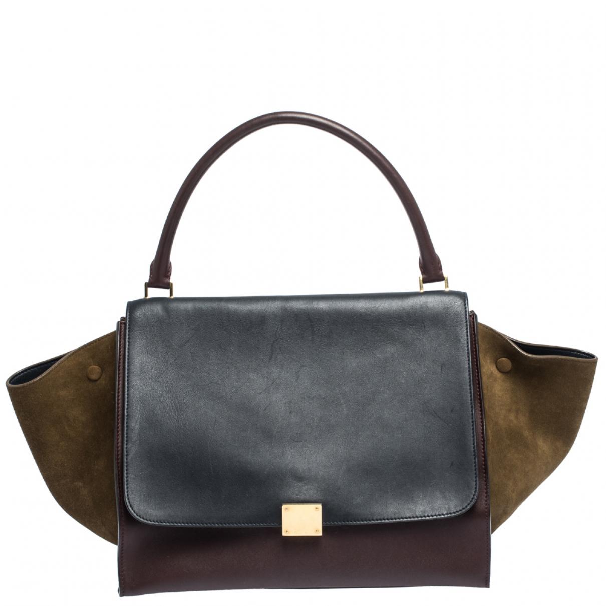 Celine Trapèze Multicolour Suede handbag for Women \N
