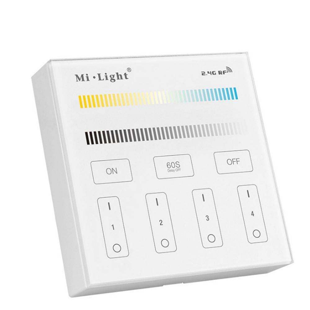 Milight B2 4-Zones Smart Panel Dimmer Controller Work With CCT LED Strip Light Floodlight Bulb