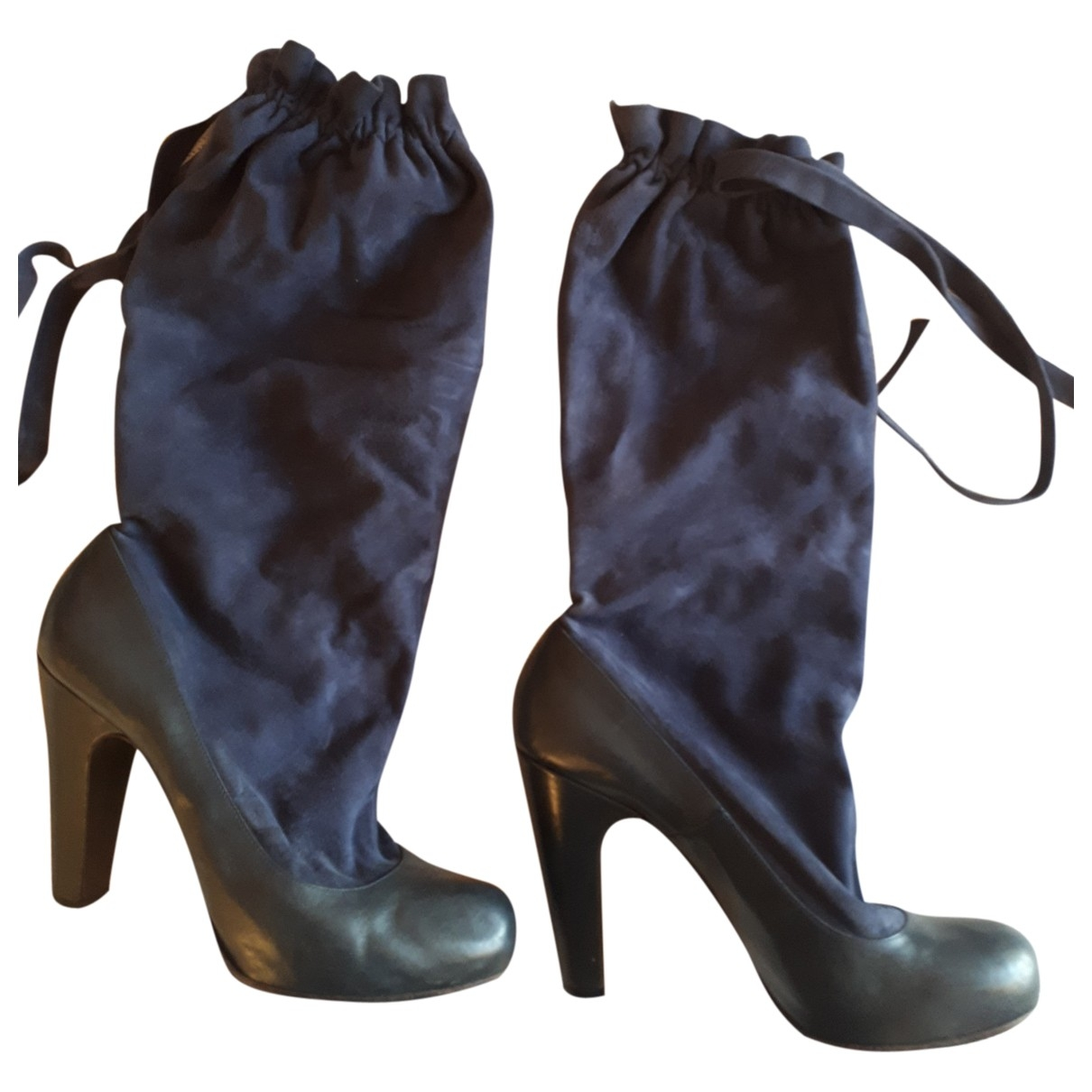 Marc By Marc Jacobs \N Blue Suede Boots for Women 41 EU