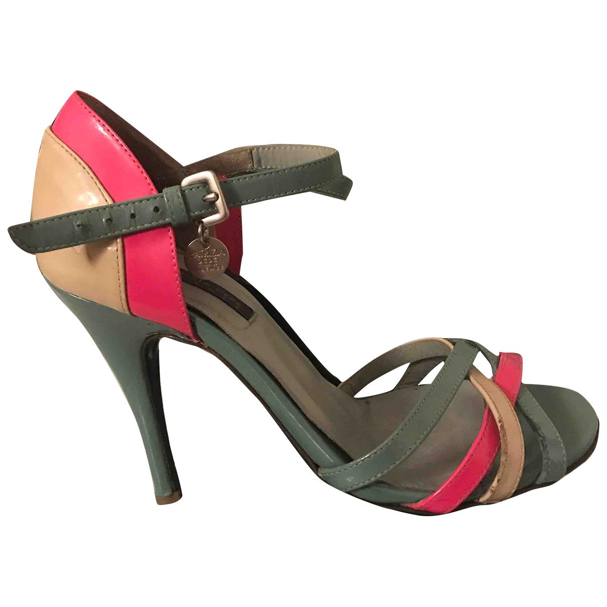 Patrizia Pepe \N Green Leather Sandals for Women 36 EU