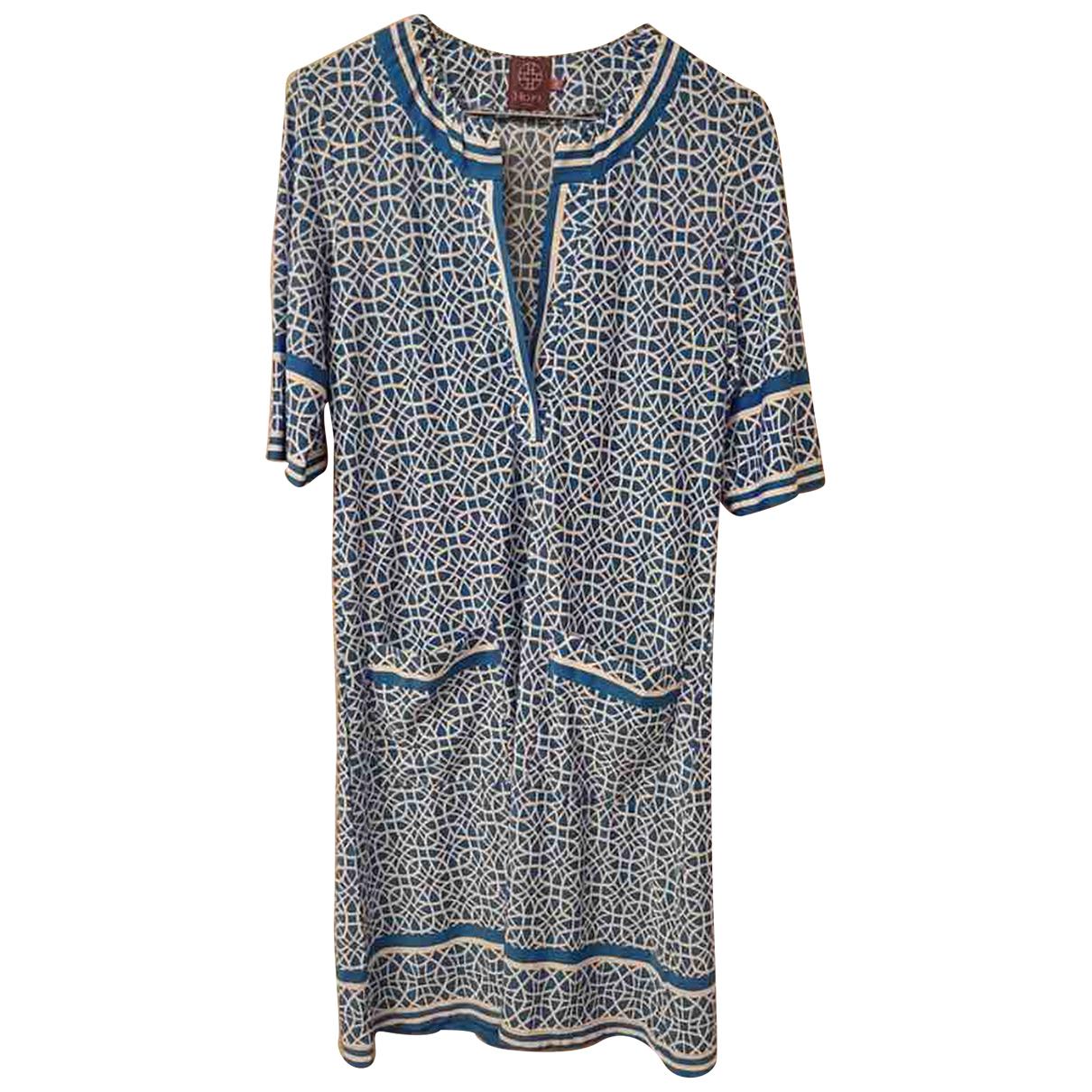 Hope - Robe   pour femme en soie - bleu