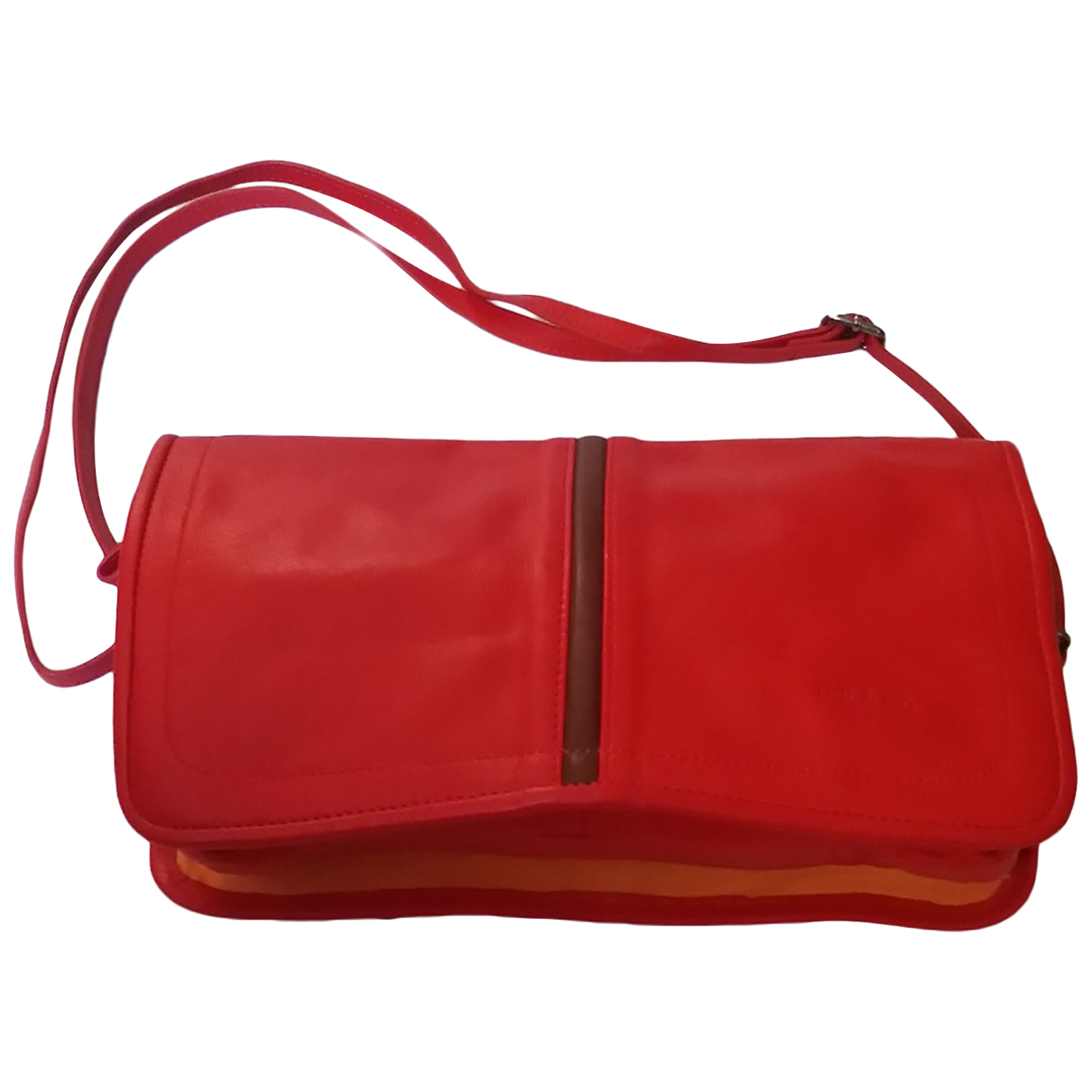 Nat & Nin N Red Leather handbag for Women N